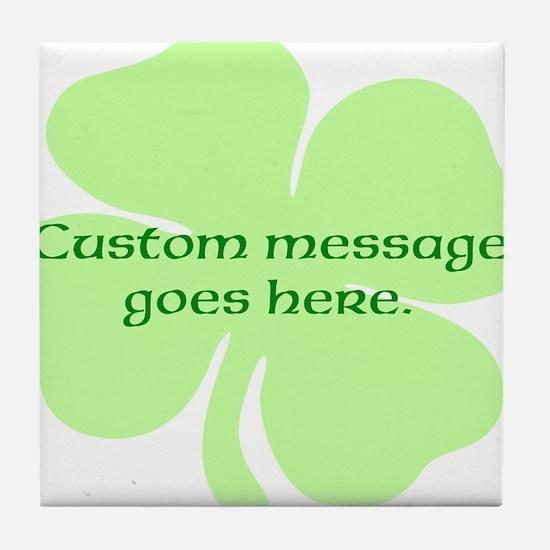 Custom Saint Patricks Day Design Tile Coaster
