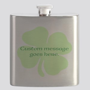 Custom Saint Patricks Day Design Flask