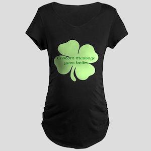 Custom Saint Patricks Day Design Maternity T-Shirt
