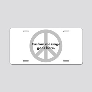Say Your Peace - Custom Peace Design Aluminum Lice