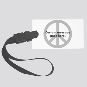 Say Your Peace - Custom Peace Design Luggage Tag