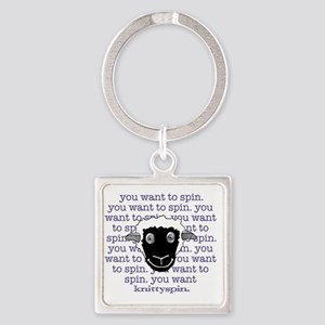 Spinny sheep Square Keychain