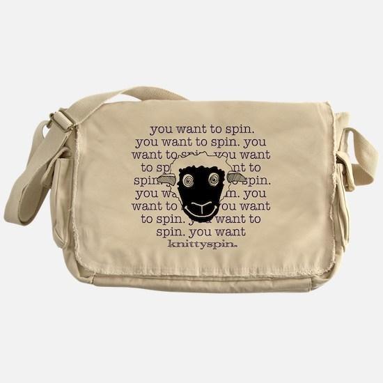 Spinny sheep Messenger Bag