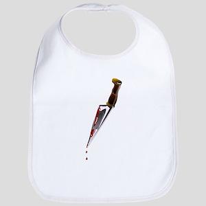 Knife dripping blood Bib