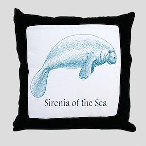 Sirenia of the Sea Throw Pillow