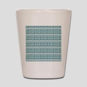Cool Breeze Blue Abstract Shot Glass