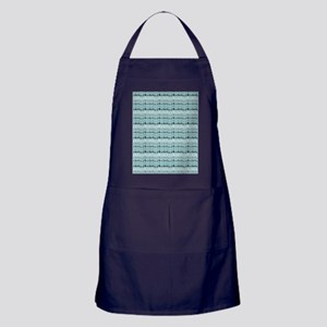 Cool Breeze Blue Abstract Apron (dark)