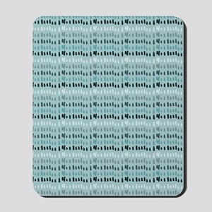 Cool Breeze Blue Abstract Mousepad