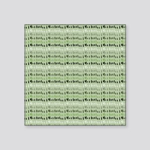 "Earthy Green Abstract Square Sticker 3"" x 3"""