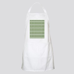 Earthy Green Abstract Apron