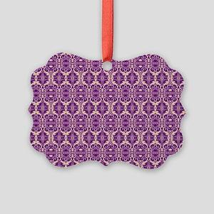 Elegant Vintage Purple Picture Ornament