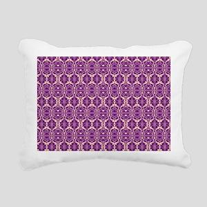 Elegant Vintage Purple Rectangular Canvas Pillow