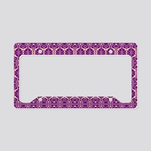 Elegant Vintage Purple License Plate Holder