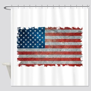 USA United States American Flag - Grunge Shower Cu