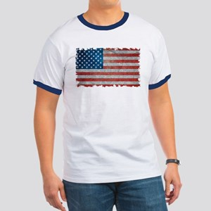 USA United States American Flag - Grunge T-Shirt