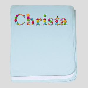 Christa Bright Flowers baby blanket