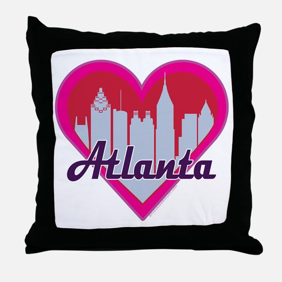 Atlanta Skyline Heart Throw Pillow