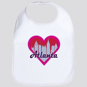 Atlanta Skyline Heart Bib