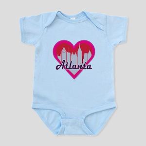 Atlanta Skyline Heart Body Suit