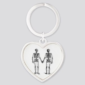 Skeletons Heart Keychain
