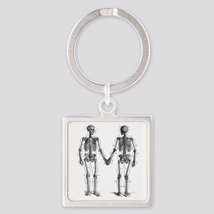 Skeletons Square Keychain