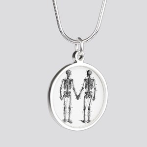 Skeletons Silver Round Necklace