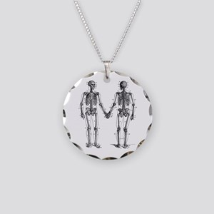 Skeletons Necklace Circle Charm
