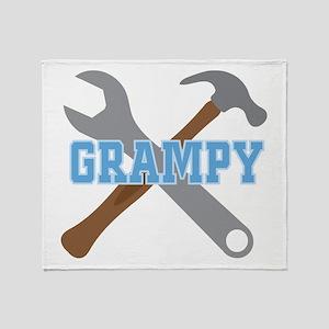 Grampy Handyman Throw Blanket