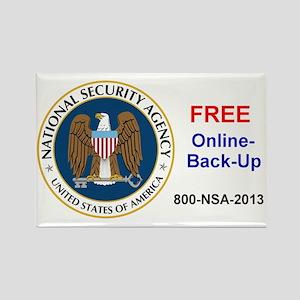 NSA Online Backup Rectangle Magnet