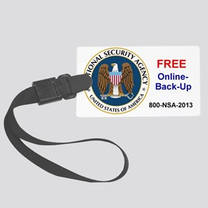 NSA Online Backup Large Luggage Tag