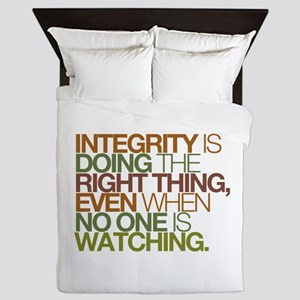 Integrity is doing the right thing, even when no Q