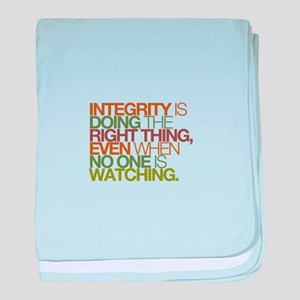 Integrity is doing the right thing, even when no b