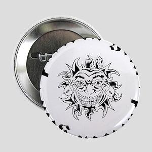 "Padlock Grin Black Sun Logo 2.25"" Button"