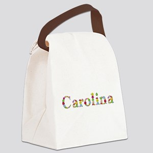 Carolina Bright Flowers Canvas Lunch Bag