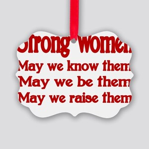 STRONG WOMEN Picture Ornament