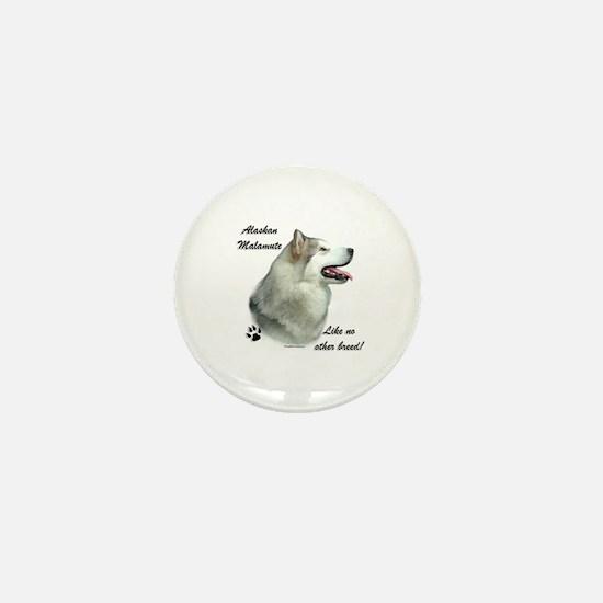 Malamute Breed Mini Button