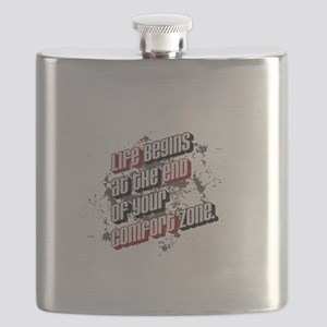 Life begins at the end of your comfort zone Flask