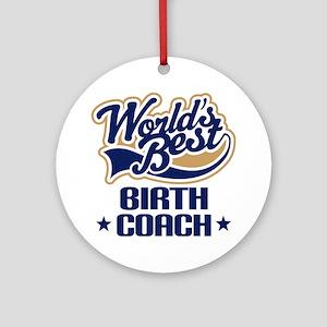 Birth Coach Ornament (Round)