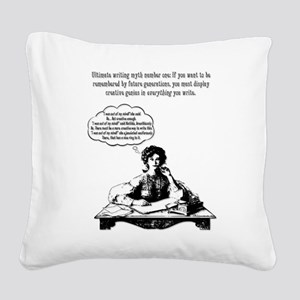 Writing Myth #1 Square Canvas Pillow