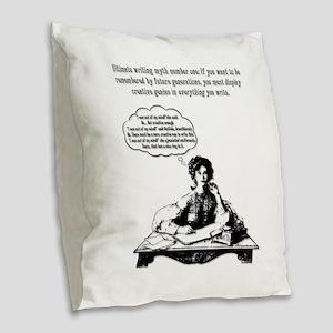 Writing Myth #1 Burlap Throw Pillow