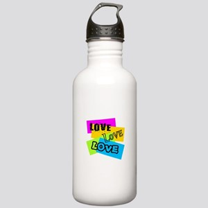 Transparent Love Water Bottle