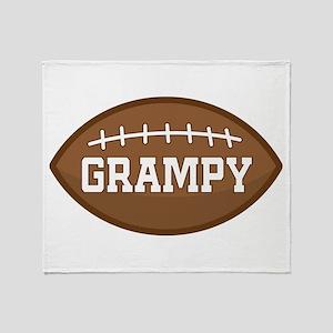 Grampy Football Throw Blanket