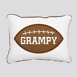 Grampy Football Rectangular Canvas Pillow