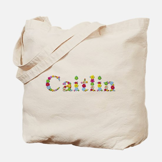 Caitlin Bright Flowers Tote Bag