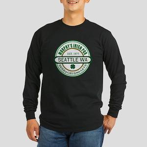 Custom Murphy's Pub Long Sleeve Dark T-Shirt