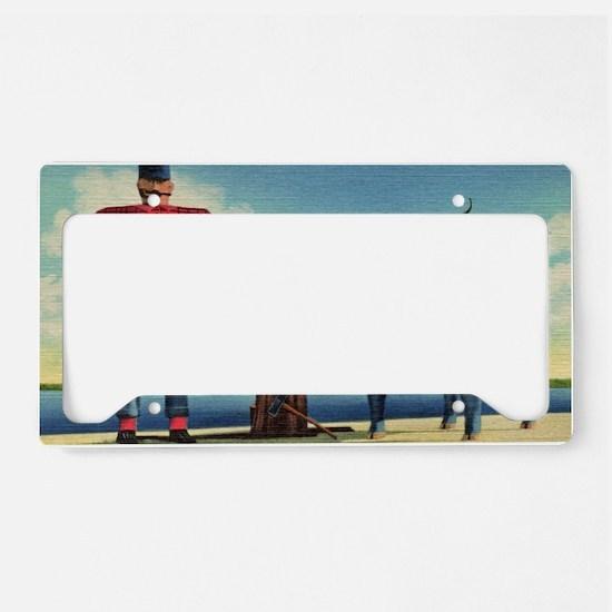 Paul Bunyan License Plate Holder