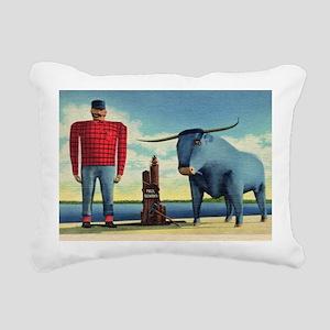 Paul Bunyan Rectangular Canvas Pillow