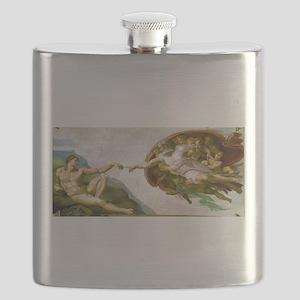 The Creation Of Adam Michaelangelo Flask