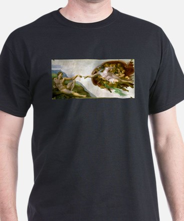 The Creation Of Adam Michaelangelo T-Shirt