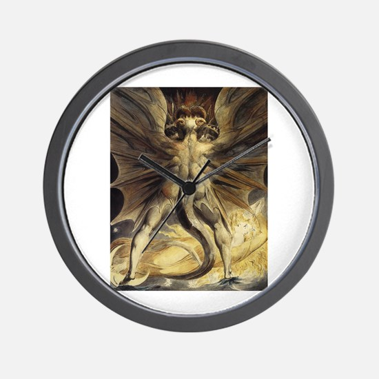 The Great Red Dragon William Blake Wall Clock